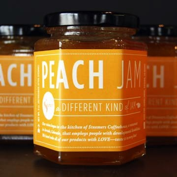 steamers peach jam