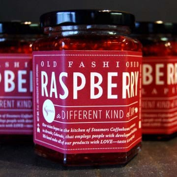 steamers old fashioned raspberry jam