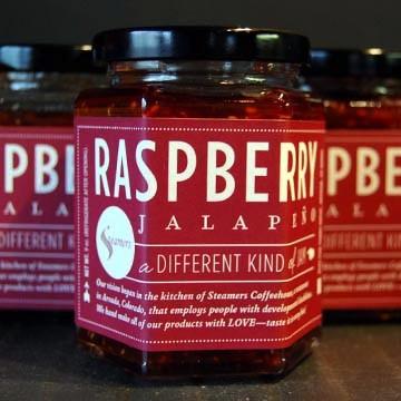 steamers raspberry jalapeno jam