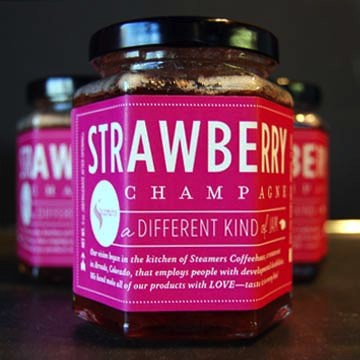 steamers strawberry champagne jam